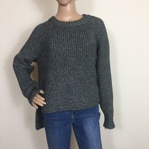 Calvin Klein Silver Cable Knitted Sweater